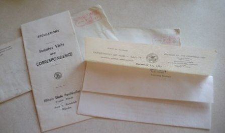 Vintage Doc./Letters from Illinois State Penitentiary/P
