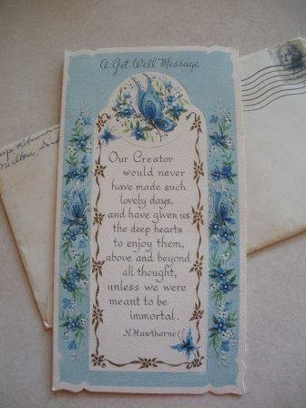 Personal Vintage Bookmark Greeting Card, Indiana