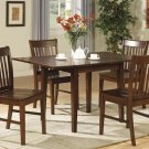 "5-PC Norfolk 32""X54"" Rectangular dinette table set & 4 chairs in Mahogany Finish.SKU: NF5-MAH-W"