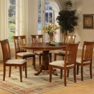 "Portland-7-PC Oval Dinette Dining Table set- 42""x60""- in Saddle Brown Finish.   SKU: P7-SBR-C"