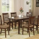 "Milan-7-PC Rectangular Dinette Dining Table Set-36""x 54"" with 12""extension leaf.  SKU: M7-MAH"