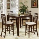 "East-West 5-PC Square Counter Height Table Dinette Set-Size: 42""x42"" in Mahogany. SKU:EW5-MAH-C"