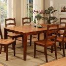 "9-Pc Rectangular Dining Table & 8 Chairs - 42""X72""- in Espresso & Cinnamon . SKU: H9-BRN-W"