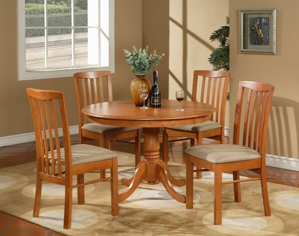 5pc Hartland Dinette Kitchen Set 42 Quot Diameter Round Table