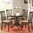 5-PC Antique Dinette Kitchen Table with 4 Chairs in Cappuccino Finished. SKU#: AN5-CAP