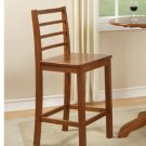 Set of 2  Lily counter height stools with wood seat in Brown finish.