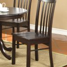 Set of 2 Hartland dining room chairs with wood seat in Walnut finish.
