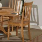 Set of 2 Antique  dining room chairs with wood seat in Light Oak finish.