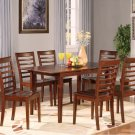 """Picasso 5-PC Rectangular Dinette Dining Table Set-32""""x 60"""" with 12""""extension leaf.  SKU: PS5-MAH"""