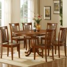 """Portland-7-PC Oval Dinette Dining Table set- 42""""x60""""- in Saddle Brown Finish.   SKU: P7-SBR-W"""