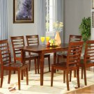 "Picasso 7-PC Rectangular Dinette Dining Table Set-32""x 60"" with 12""extension leaf. SKU: PS7-MAH"