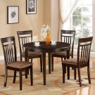 Bosca-5-PC Dinette Table with 4 Upholstered Chairs in Cappuccino Finish. SKU#: BOSCA5-CAP