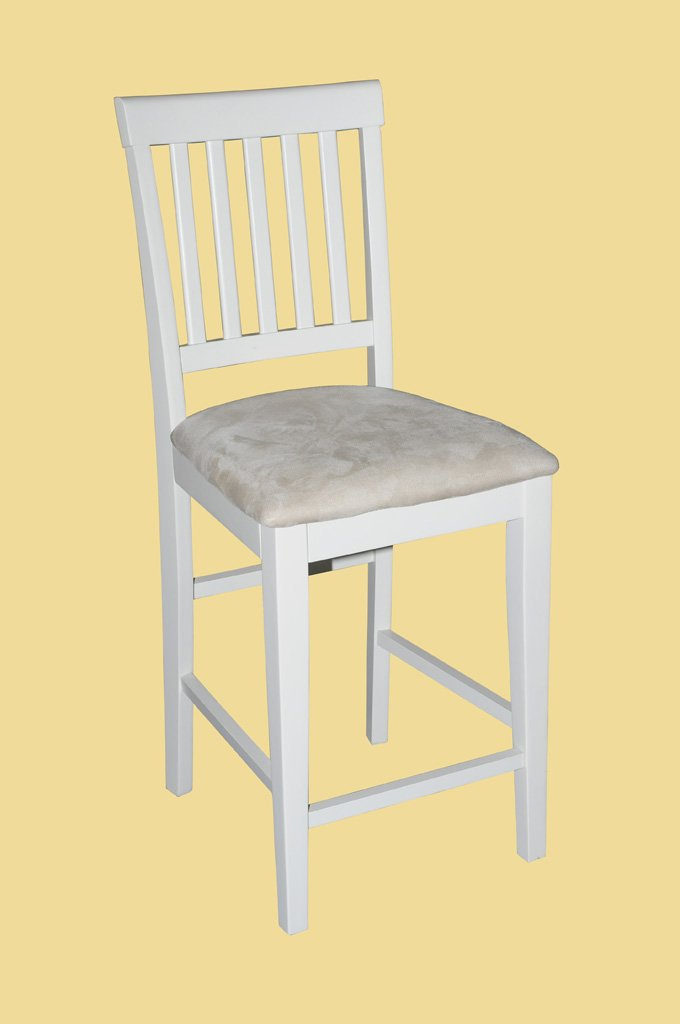 Set of 6 Vernon Counter Height Chairs with upholstered or wood seat in Buttermilk & Cherry