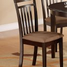 Set of 2 Capri dining chairs with microfiber upholstered seat in Cappuccino. SKU#: EWCDC-CAP-C