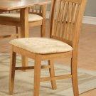 Set of 10 Norfolk kitchen dining chairs w/ microfiber upholstered seat in Light Oak, SKU# NFC-OAK-C