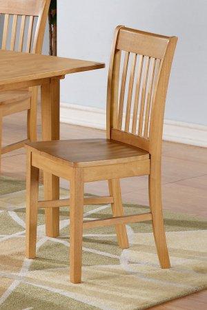 Set of 10 Norfolk kitchen dining chairs with plain wood seat in Light Oak, SKU# NFC-OAK-W
