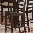 "Set of 2 Fairwinds 24"" counter height chairs with wooden seat in Cappuccino finished"