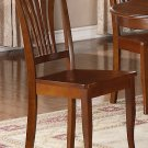 Set of 4 Avon kitchen dining chairs with wooded seat in Saddle Brown
