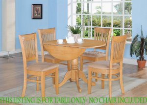 Dublin dinette kitchen 42� diameter round table in Oak Finish. No chairs included SKU: DT-OAKT