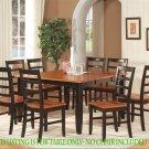 """Parfait Square Gathering Dining Table 54""""x36""""/54""""x30H. Extension leaf. SKU: PARFAIT-T-BLK"""