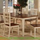 "Nicoli Dinette Kitchen Dining Table Only 36""X66""X30"" in Buttermilk & Brown. SKU: NT-WHI-T"