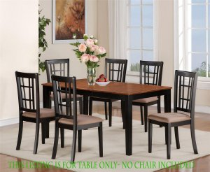 """Nicoli Dinette Kitchen Dining Table Only 36�X66�X30"""" in Black & Cherry. SKU: NT-BLK-T"""