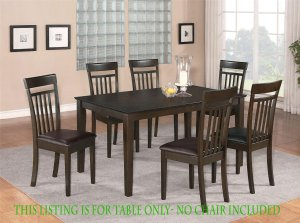 1 DINETTE KITCHEN DINING TABLE WITH SOLID TOP IN CAPPUCCINO, NO CHAIR INCLUDED, SKU: EWCDT-CAP-S