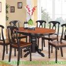 """Kenley Dinette Kitchen Dining Table 42""""x60"""" in Black & Saddle Brown. SKU: KT-BLK-T"""