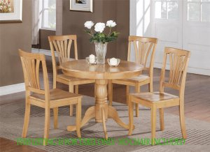 "ONE DINETTE KITCHEN DINING TABLE IN OAK FINISH 36"" ROUND - NO CHAIR INCLUDED SKU: ANT-OAK-T"