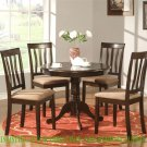 "36"" ROUND DINETTE KITCHEN DINING TABLE IN CAPPUCCINO FINISH - NO CHAIR INCLUDED SKU: ANT-CAP-T"