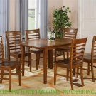 "MILAN RECTANGULAR KITCHEN TABLE 36x54 with 12"" LEAF IN MAHOGANY, CHAIR NOT INCLUDED. SKU: MT-SBR-T"