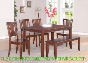 "RECTANGULAR DINETTE KITCHEN DINING TABLE 36""x60"" WITHOUT CHAIR IN MAHOGANY FINISH. SKU: DU-MAH-T"