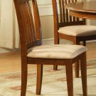 Set of 2 Portland slat back chairs with microfiber upholstered in Saddle Brown, SKU: PC-SBR-C
