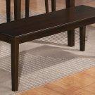 "One Capri Dinette Kitchen Dining Bench L52 x W16 x H18"", Wood Seat In Cappuccino, SKU: EWBEN-CAP-W"