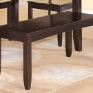"Lynfield Dinette Kitchen Dining Bench in Cappuccino L48"" x D16"" x H18"". SKU: LY-WB-ESP"