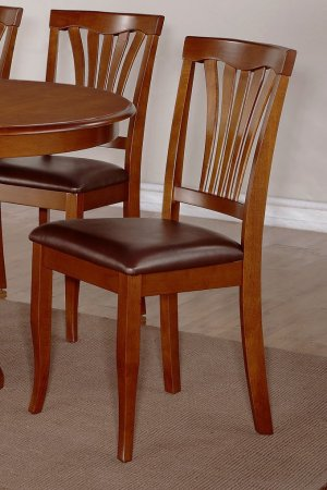 SET OF 3 AVON DINETTE DINING CHAIR WITH LEATHER SEAT IN BLACK FINISH, SKU: AV-SBR-LC3