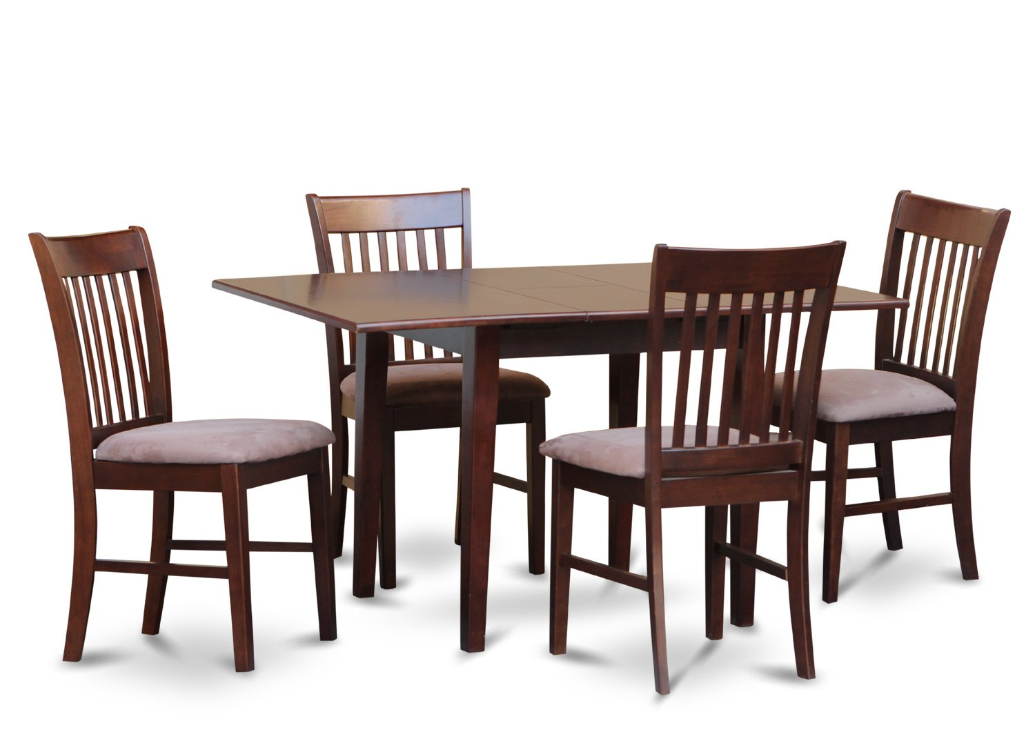 5pc norfolk rectangular dinette kitchen table with 4