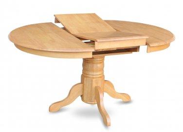 Avon Pedestal Dining Table 42x60 in Light Oak, Without Chair, SKU: AVT-OAK-TB