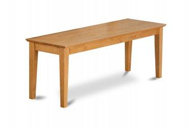 "One Capri Dinette Kitchen Dining Bench L52 x W16 x H18"", Wood Seat In Cappuccino, SKU: CAB-OAK-W"
