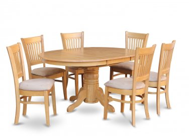 This Listing is for 4 Sets, TOTAL 4 AVON TABLES & 24 VANCOUVER PADDED CHAIRS IN OAK, SKU: AVA7-OAK-C