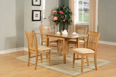"3-PC-Norfolk 32�X54"" Rectangular dining table & 2 padded chairs in OAK Finish. SKU: NOFK5-OAK-3"