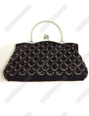 Beaded and Sequin Evening Bag