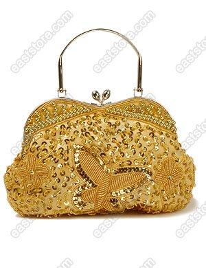 Beaded Butterfly Handbag