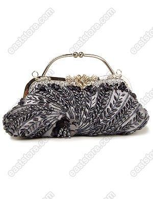 Handbeaded Floral Pattern Handbag
