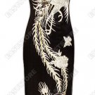 Luxurious Silver Phoenix Embroidered Silk Cheongsam
