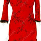 Plum Blossom Mid-length Cheongsam(Quilted)