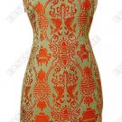 Asian Double Fish Knee-Length Cheongsam