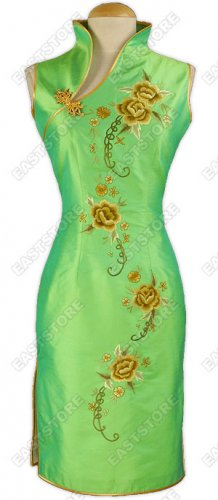 Enchanted Peony Embroidery Knee-Length Dress
