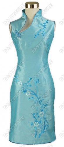 Unique Plum Blossom Embroidered Knee-Length Dress
