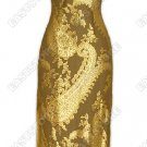 Aberrance Dragon Pattern Burn-out Silk Cheongsam